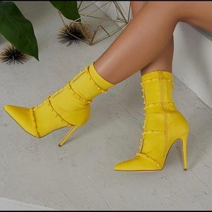 Shoes - Kay Yellow Booties
